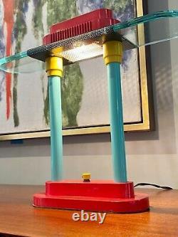 Sonneman Kovacs Vtg Mid Century Modern Memphis Post Modern Desk Lamp Light Italy