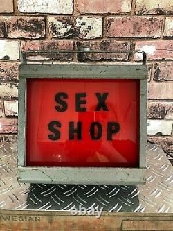 Strand Electric Mid-Century Industrial Illuminated Red Light Sex Shop RESTORED