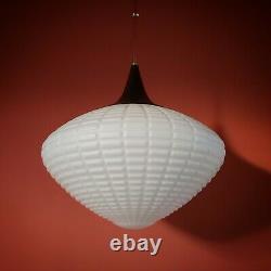 Stunning Retro Bauhaus White Opaline Glass Pendant Ceiling Lights (3 Available)