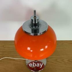 VINTAGE 70s MIDCENTURY GUZZINI FARO TABLE MUSHROOM LAMP LIGHT #3147