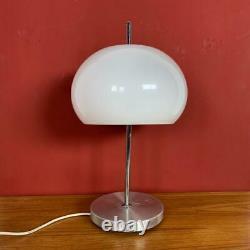 VINTAGE 70s MIDCENTURY GUZZINI STYLE TABLE MUSHROOM LAMP LIGHT #3090