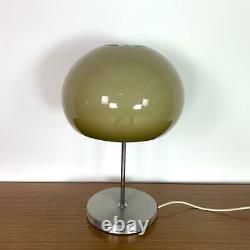 VINTAGE 70s MIDCENTURY GUZZINI STYLE TABLE MUSHROOM LAMP LIGHT #3111