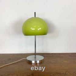VINTAGE 70s MIDCENTURY GUZZINI STYLE TABLE MUSHROOM LAMP LIGHT GREEN #3249