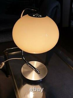 VINTAGE 70s MIDCENTURY GUZZINI STYLE TABLE MUSHROOM LAMP LIGHT, VGC, GWO