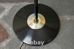 VTG Mid Century Modern Three Cone Light Pole Floor Lamp Retro 1960s Black Gold