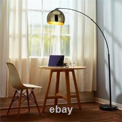 Versanora Arquer Arc Floor Lamp in Gold and Black