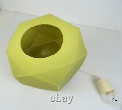 Very Rare Original 60s MID Century Geometric Cubist Green Ceiling Lamp Pendant