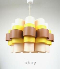 Very Rare Plastic Fantastic Loops 60s MID Century Space Age Ceiling Lamp Pendant