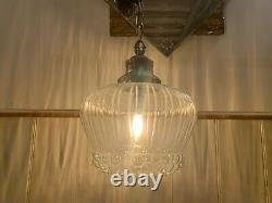 Vintage 1960s, Helena Tynell For Limburg Bubble Glass Pendant Light, Mid Century