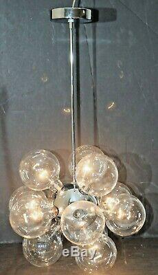 Vintage 1970's Mid-Century Molecular Sputnik Chandelier 12 Light Kaiser Leuchten