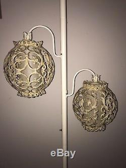 Vintage 2 Light Tension Pole MID CENTURY MODERN Floor Lamp