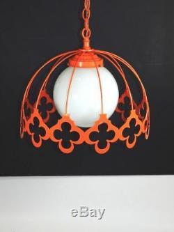 Vintage Ceiling Light Mid Century Modern