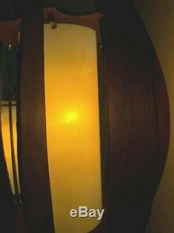 Vintage DANISH MODERN 3-Way TENSION POLE LIGHT Floor Lamp MID-CENTURY Retro MCM