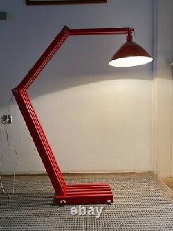 Vintage Floor Folding Wood Lamp Design Light Mid Century Arc Space Age Rare