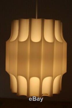 Vintage Guzzini Teulada Tube Ceiling Light/Mid Century Modern Pendant Lamp/1960s