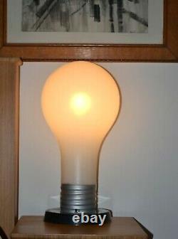 Vintage MCM 70's Pop Art 23 Huge Giant Light Bulb Table Lamp Mid Century
