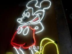 Vintage MICKEY MOUSE NEON LIGHT Walt Disney ICON Mid Century 1950's (RARE)