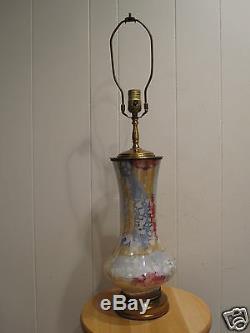 Vintage MID Century Modern Art Glass Light Lamp Interior Decorate Artistic Funky