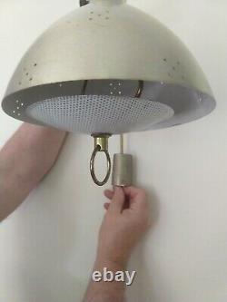 Vintage MID Century Modern Brass Swingarm Hanging Wall Lamp Light 9 Works