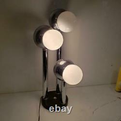 Vintage Mid Century 3 Light Chrome Eyeball Electronic Lamp Table Lamp 27 tall
