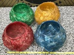 Vintage Mid Century 4-Color Floor To Ceiling Pole Light Red Yellow Green Blue
