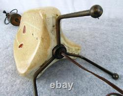 Vintage Mid Century Atomic Mobile Eames Era Pottery Tripod Sputnik Lamp Light