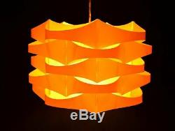 Vintage Mid-Century Danish Modern Plastic Hanging Pendant Light