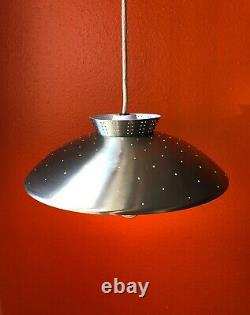Vintage Mid Century Light Saucer UFO Swing Arm Wall Counterweight Pull Down star