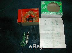 Vintage Mid-Century MERRY GLOW ROUND Light Up Rotating Tree Topper with Box