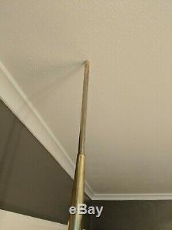 Vintage Mid Century Modern Adjustable 3 Way Light Tension Pole Floor Lamp 1960's