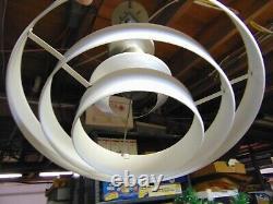 Vintage Mid- Century Modern Atomic Ceiling Light Fixture Ufo Staturn Rings