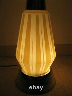 Vintage Mid Century Modern Danish Style Lamp Teakwood with Lighted Base