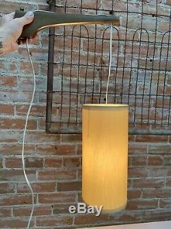 Vintage Mid Century Modern Danish Teak/Walnut Arm Wall Mount Light Lamp