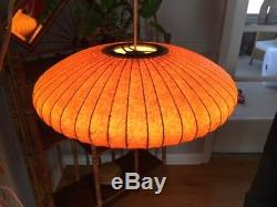 Vintage Mid Century Modern George Nelson Bubble Saucer Light/Hanging Light