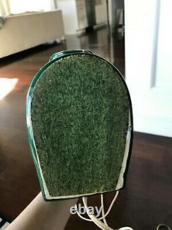 Vintage Mid Century Modern Green Horse Head Ceramic Light /Lamp