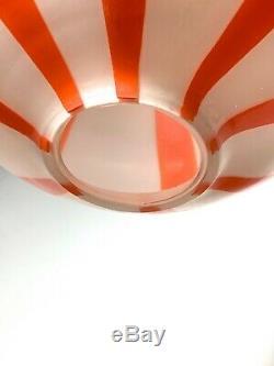 Vintage Mid Century Modern Vignelli Venini Glass Pendant Lamp Light Chandelier