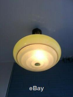 Vintage Mid Century Pendant Space Age UFO Lamp Ceiling Atomic Design Light Doria
