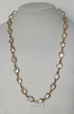 Vintage Mid Century Rock Quartz Pools of Light Necklace