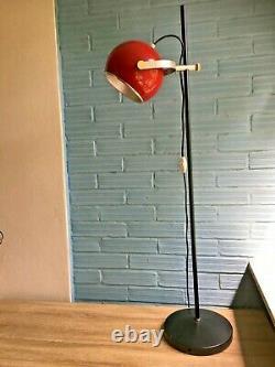 Vintage Mid Century Space Age Lamp Floor Atomic Design Light Pop Art Eyeball