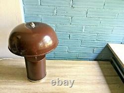 Vintage Mid Century Space Age Lamp Table Atomic Design Light Metal Brown Floor