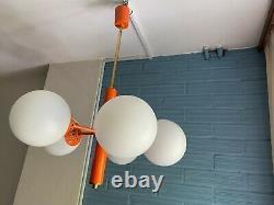 Vintage Mid Century Sputnik Pendant Space Age Lamp Ceiling Atomic Design Light