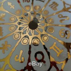 Vintage Mid Century Zodiac Astrology Sign Ceiling Light Cover Hollywood Regency