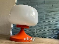 Vintage Mushroom Table Space Age Glass Lamp Atomic Design Light Mid Century Desk