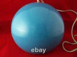 Vintage NOS Mid-Century Modern Amplex Focalite Blue 1960's Hanging Ceiling Light