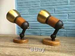 Vintage Pair of Space Age Sconce Lamp Atomic Design Light Mid Century Pop Wall