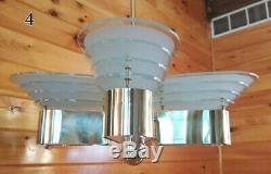 Vintage Retro MID Century Atomic Space Age Chandelier Ceiling Light Fixture