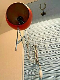 Vintage Sconce Scissors Space Age Lamp Atomic Design Light Mid Century Eyeball