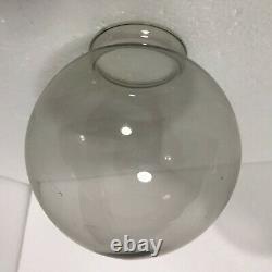 Vintage Smoked Glass Globe Light Shade Ceiling Dome Smoke Mid Century Modern