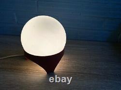 Vintage Space Age Glass Table Lamp Atomic Design Light Mid Century Sputnik