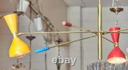 Vintage Style Chandelier Mid Century Lamp Modern Sputnik Ceiling Light Fixture